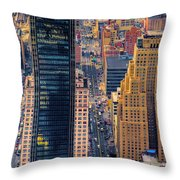 Manhattan Streets From Above Throw Pillow