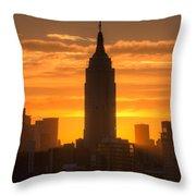 Manhattan Sunrise II Throw Pillow