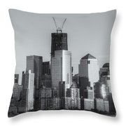 Manhattan Sunset Reflections II Throw Pillow
