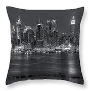 Manhattan Twilight Vii Throw Pillow