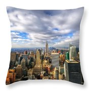 Manhattan05 Throw Pillow by Svetlana Sewell