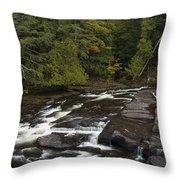 Manido Falls 5 Throw Pillow