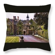 Manor House At Castle Combe  Throw Pillow