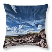 Manorbier Rocks Big Sky Throw Pillow