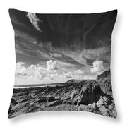 Manorbier Rocks Throw Pillow