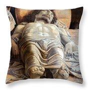 Mantegna: The Dead Christ Throw Pillow