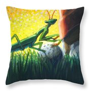 All Players Great And Small - Mantis Throw Pillow