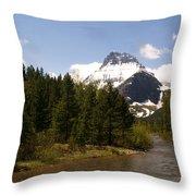 Many Glacier II Throw Pillow