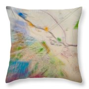 Map Abstract 2 Throw Pillow