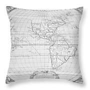 Map Of The New World 1587 Throw Pillow