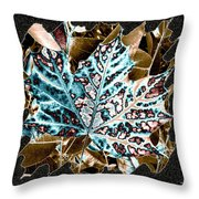 Maple Leaf And Laurel Throw Pillow