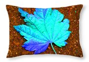 Maple Leaf On Pavement Throw Pillow