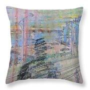 Maple Leaf Quay Throw Pillow