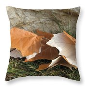 Maple Leaves Contrasted Throw Pillow