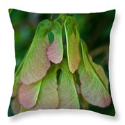 Maple Seed Throw Pillow