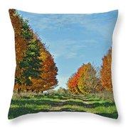 Maple Tree Lane Throw Pillow