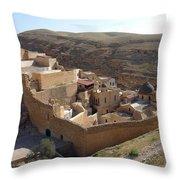 Mar Saba Monastery Throw Pillow