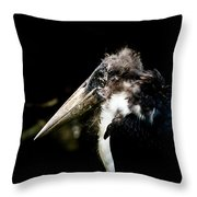Marabou Stork Throw Pillow