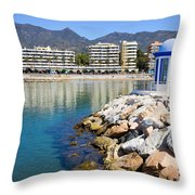 Marbella Bay Throw Pillow