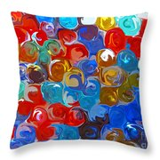 Marble Collection Abstract Throw Pillow