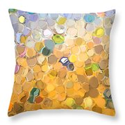 Marble Collection I Abstract Throw Pillow
