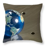 Marble Earth 1 B Throw Pillow
