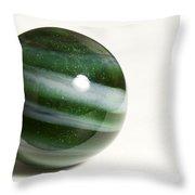 Marble Green Onion Skin 2 Throw Pillow