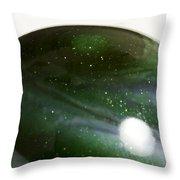 Marble Green Onion Skin 3 Throw Pillow