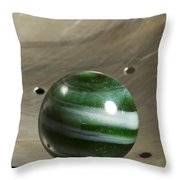Marble Green Onion Skin 5 Throw Pillow