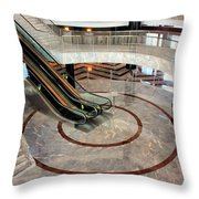 Marble Staircases Throw Pillow