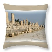 Marble Street In Ephesus Throw Pillow