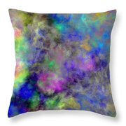 Marbled Clouds Throw Pillow