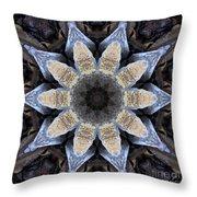 Marbled Mandala - Abstract Art Throw Pillow