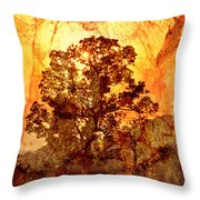 Marbled Tree Throw Pillow