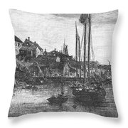 Marblehead: Fishing Boats Throw Pillow