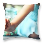 Marbles Throw Pillow by Stephanie Frey