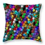 Marbles..or...gumballs Throw Pillow