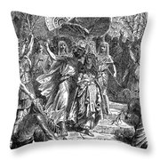 Marc Antony & Cleopatra Throw Pillow by Granger