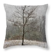 March Tree Throw Pillow