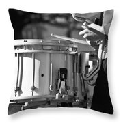 Marching Band Drummer Boy Bw Throw Pillow