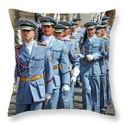 Marching Guards Throw Pillow
