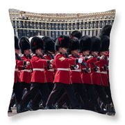 Marching In Red And Black Throw Pillow