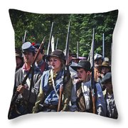 Marching In To Town Throw Pillow