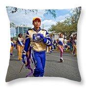 Mardi Gras Struttin' Throw Pillow