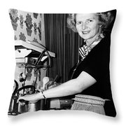 Margaret Thatcher (1925- ) Throw Pillow
