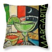 Margarita Poster Throw Pillow