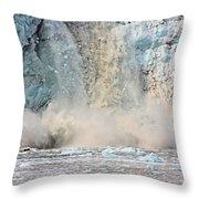 Margerie Glacier Calving Throw Pillow