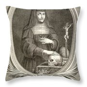 Marie-felicite Montmorency Throw Pillow