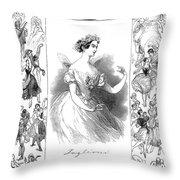 Marie Taglioni (1804-1884) Throw Pillow