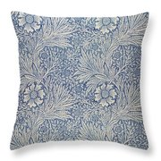 Marigold Wallpaper Design Throw Pillow
